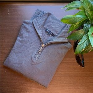 Men's French Connection 1/4 Zip Grey Sweater